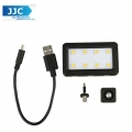 JJC LED-8 Mini Adjustable LED Light with Standard Hot Shot Adapter and 3.5mm Plug Jack Headphone Adapter Ask a question about this product
